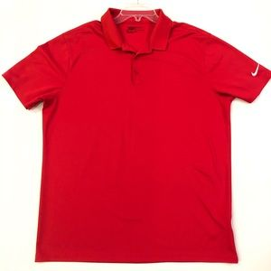 Men's Nike Golf XL DriFit Red golf polo shirt